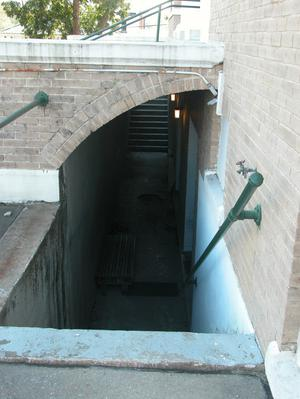 Primary view of object titled 'Polk County Courthouse, entry to basement'.