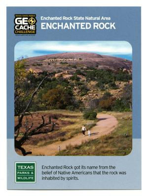 Primary view of object titled '[Trading Card: Enchanted Rock]'.
