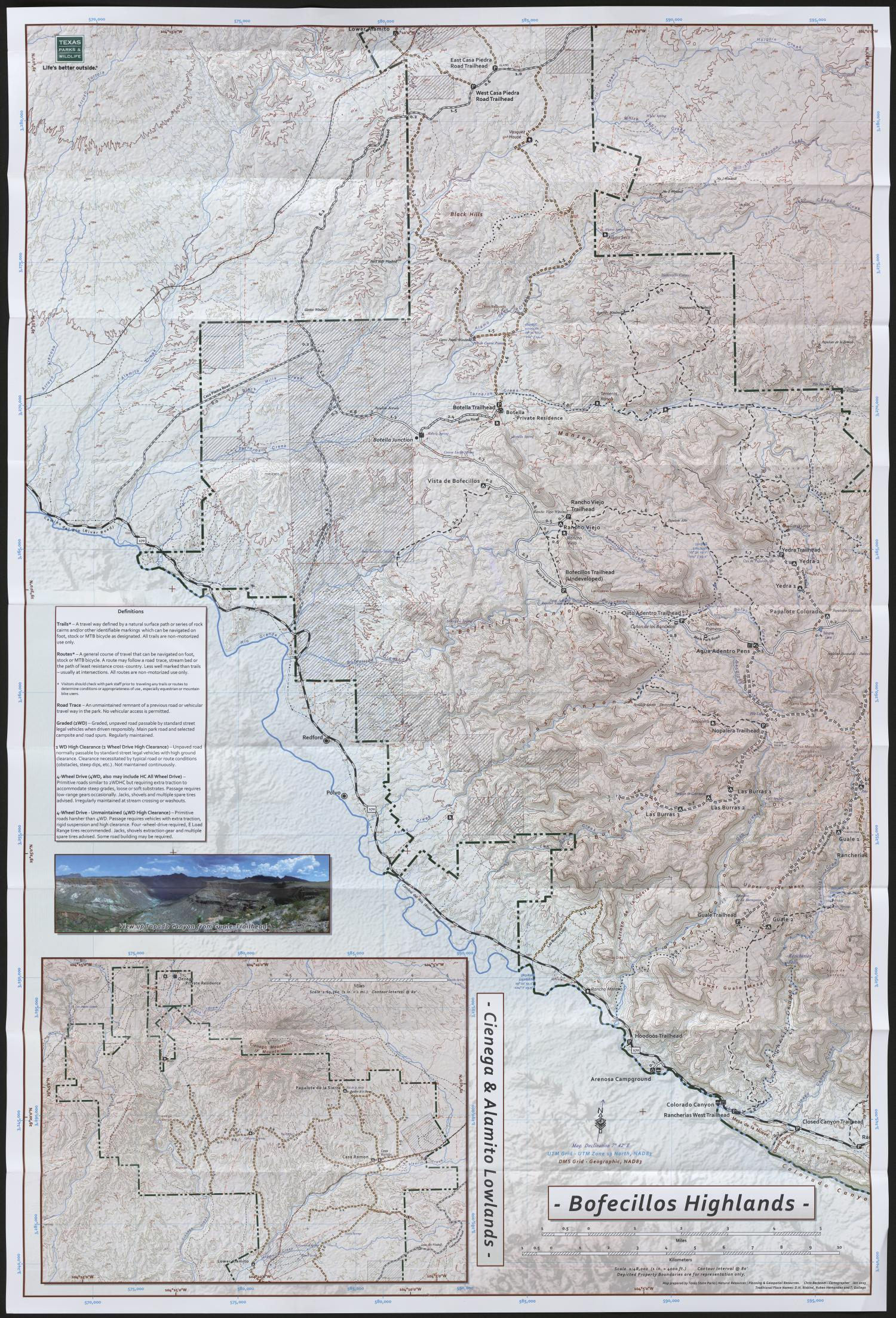 Exploration Map Big Bend Ranch SP The Portal to Texas History