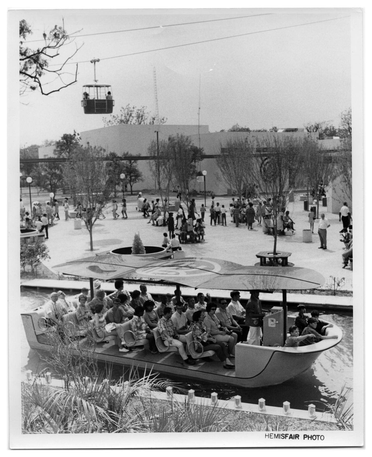 Lagoon cruise boat at HemisFair '68                                                                                                      [Sequence #]: 1 of 2