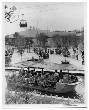 Primary view of object titled 'Lagoon cruise boat at HemisFair '68'.