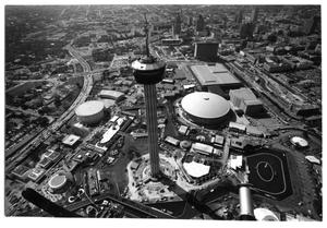 Primary view of object titled 'Aerial view of HemisFair '68'.
