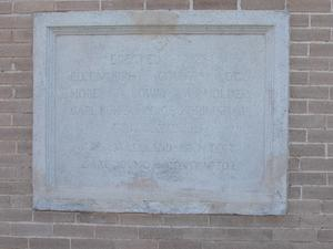 Primary view of object titled 'Polk County Courthouse, cornerstone'.
