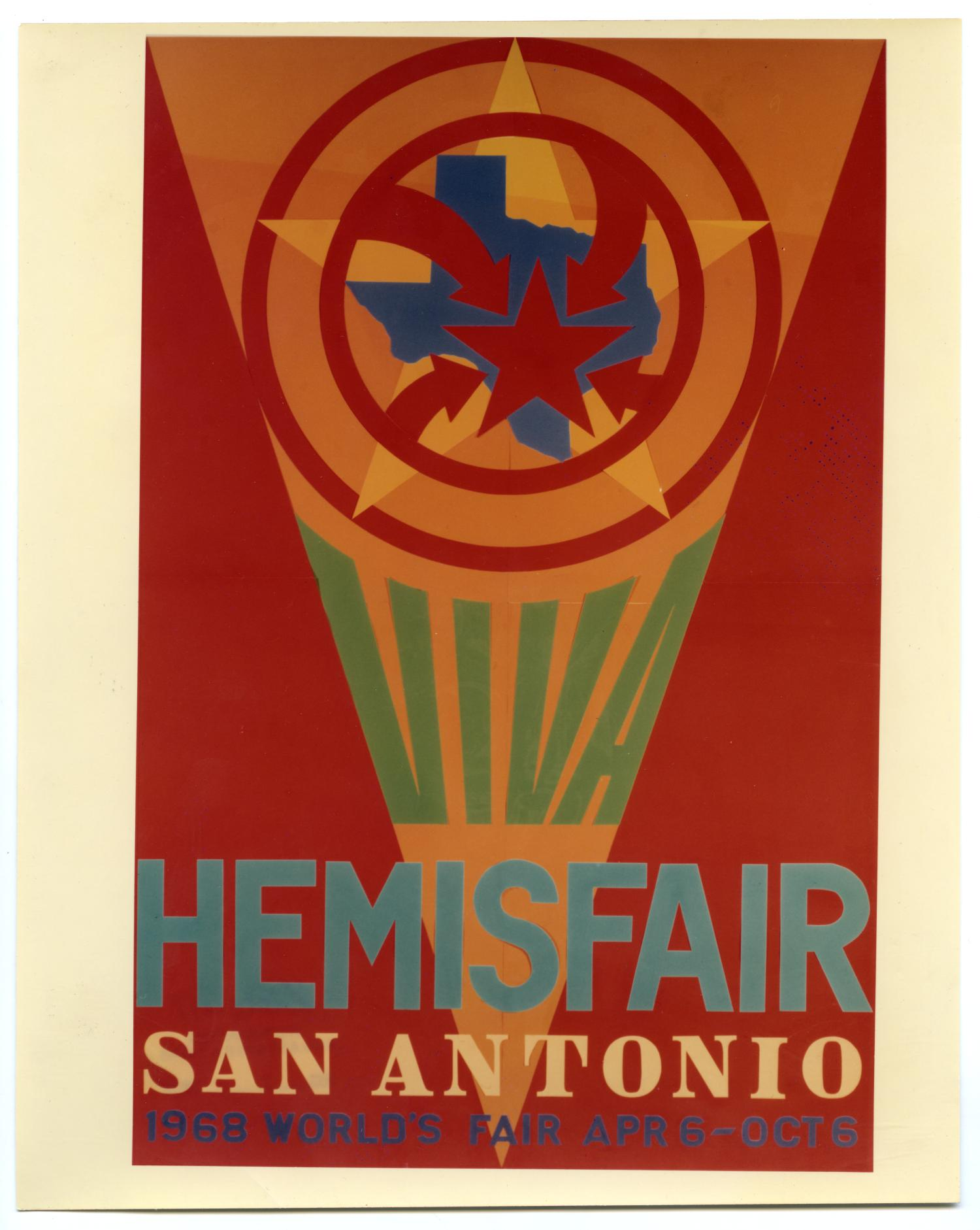 Viva hemisfair san antonio 1968 world 39 s fair color poster for 66180 1