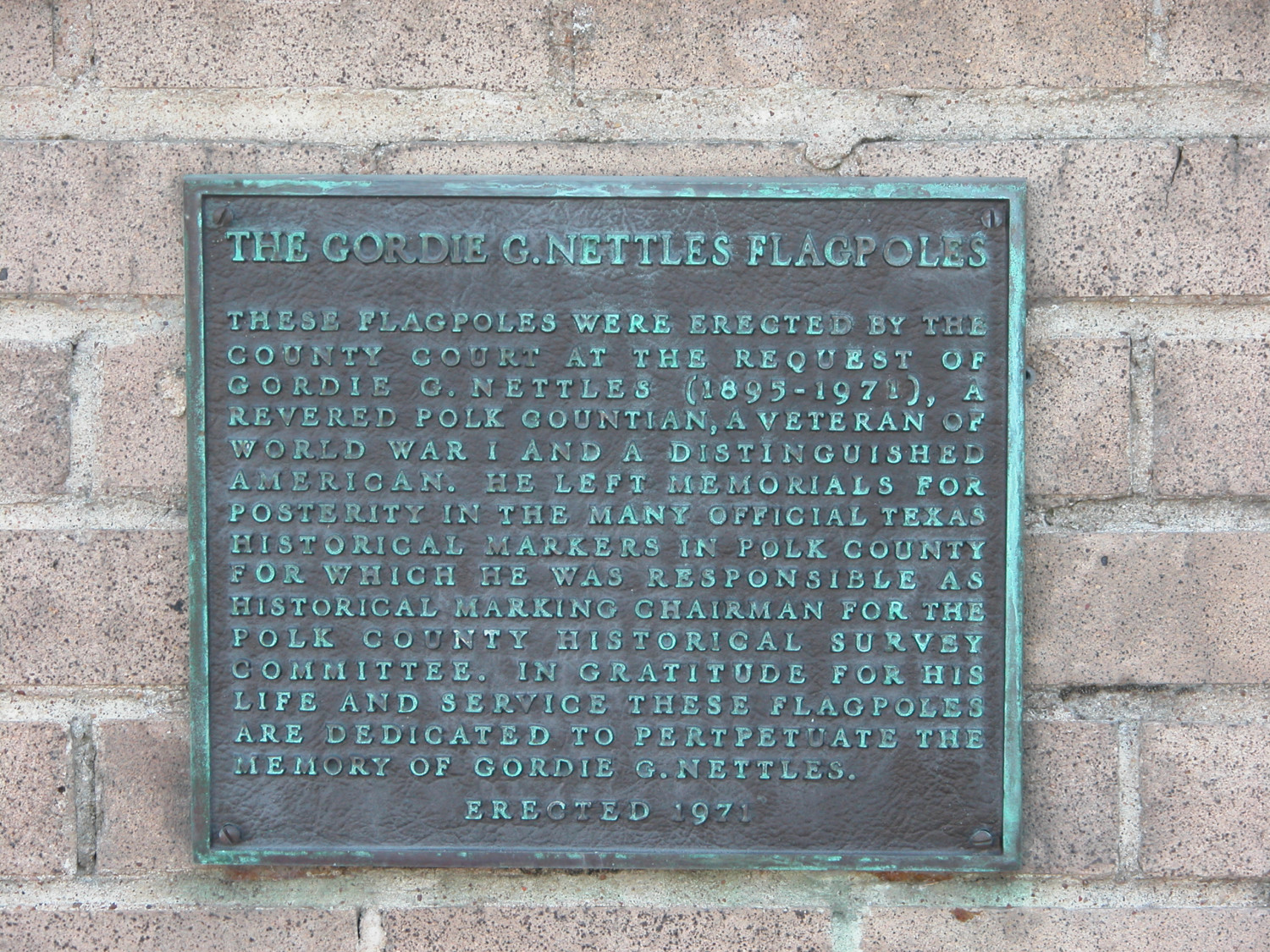 Historic Plaque, Polk County Courthouse Flagpoles.                                                                                                      [Sequence #]: 1 of 1