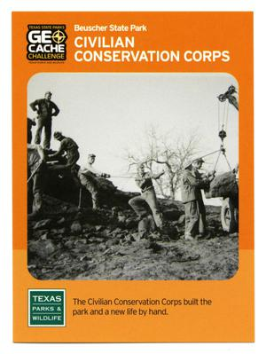 Primary view of object titled '[Trading Card: Civilian Conservation Corps]'.