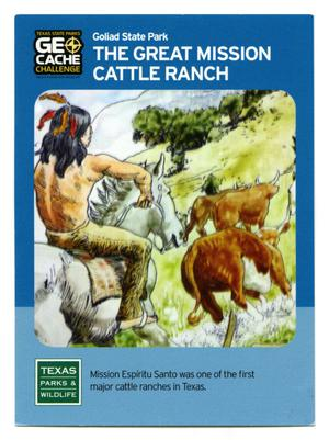 Primary view of object titled '[Trading Card: The Great Mission Cattle Ranc]'.