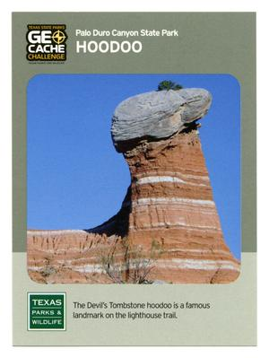 Primary view of object titled '[Trading Card: Hoodoo]'.