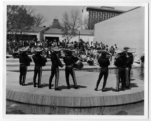 Primary view of object titled 'Mariachis performing at HemisFair '68'.