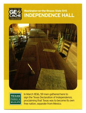 Primary view of object titled '[Trading Card: Indepencence Hall]'.