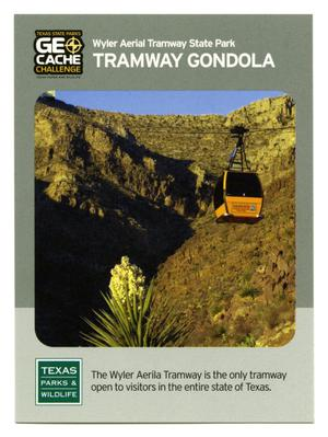 Primary view of object titled '[Trading Card: Tramway Gondola]'.