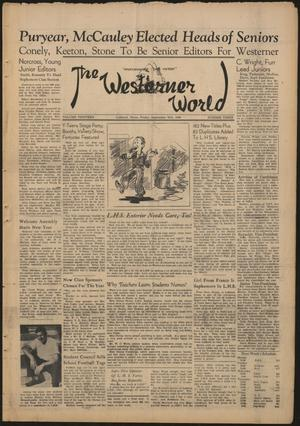 Primary view of object titled 'The Westerner World (Lubbock, Tex.), Vol. 13, No. 3, Ed. 1 Friday, September 20, 1946'.
