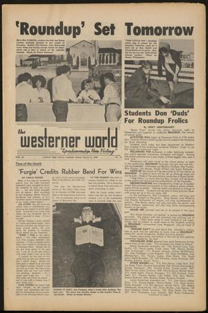 Primary view of object titled 'The Westerner World (Lubbock, Tex.), Vol. 32, No. 21, Ed. 1 Friday, March 11, 1966'.