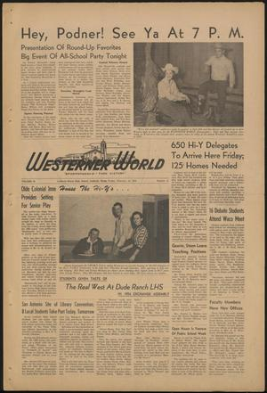 Primary view of object titled 'The Westerner World (Lubbock, Tex.), Vol. 20, No. 21, Ed. 1 Friday, February 19, 1954'.