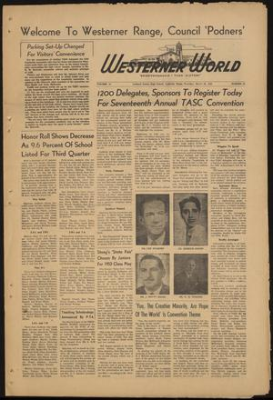 Primary view of object titled 'The Westerner World (Lubbock, Tex.), Vol. 19, No. 25, Ed. 1 Thursday, March 26, 1953'.