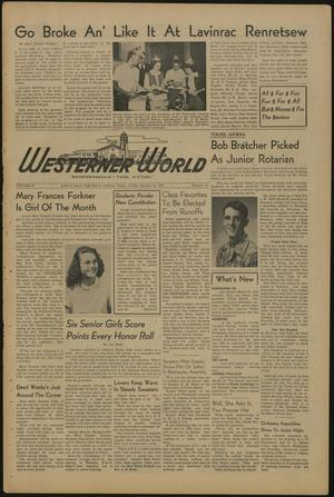 Primary view of object titled 'The Westerner World (Lubbock, Tex.), Vol. 16, No. 15, Ed. 1 Friday, January 13, 1950'.