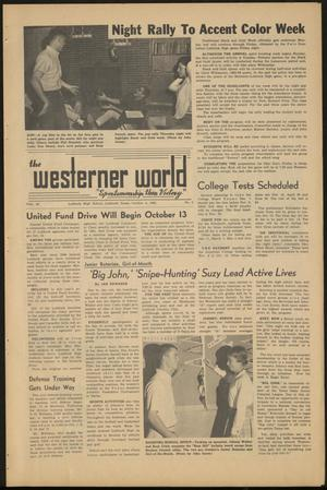 Primary view of object titled 'The Westerner World (Lubbock, Tex.), Vol. 30, No. 5, Ed. 1 Friday, October 4, 1963'.