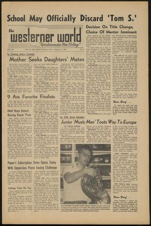 Primary view of object titled 'The Westerner World (Lubbock, Tex.), Vol. 28, No. 9, Ed. 1 Friday, January 12, 1962'.