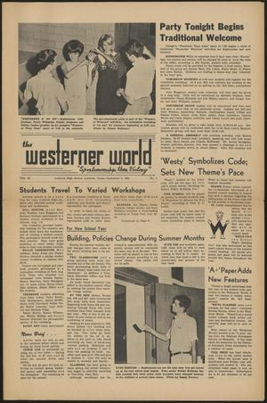 Primary view of object titled 'The Westerner World (Lubbock, Tex.), Vol. 32, No. 1, Ed. 1 Friday, September 3, 1965'.