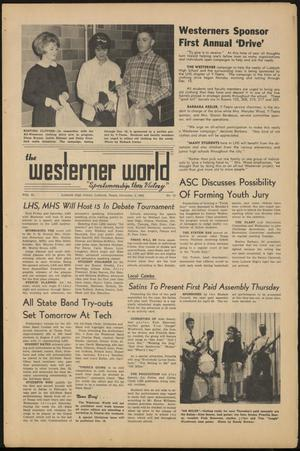 Primary view of object titled 'The Westerner World (Lubbock, Tex.), Vol. 31, No. 13, Ed. 1 Friday, December 4, 1964'.