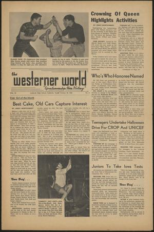 Primary view of object titled 'The Westerner World (Lubbock, Tex.), Vol. 32, No. 8, Ed. 1 Friday, October 29, 1965'.