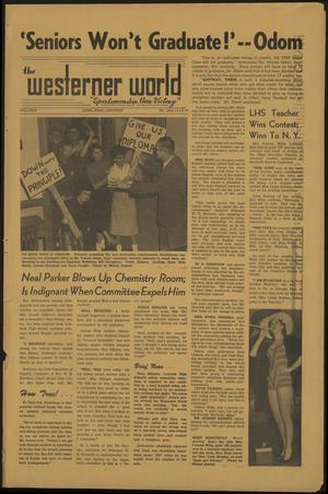 Primary view of object titled 'The Westerner World (Lubbock, Tex.), Vol. [25], Ed. 1 Wednesday, April 1, 1959'.
