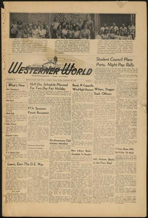 Primary view of object titled 'The Westerner World (Lubbock, Tex.), Vol. 14, No. 4, Ed. 1 Friday, September 26, 1947'.