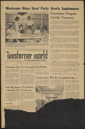 Primary view of object titled 'The Westerner World (Lubbock, Tex.), Vol. 31, No. 1, Ed. 1 Friday, September 4, 1964'.