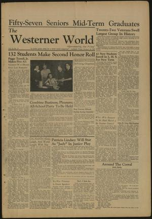 Primary view of object titled 'The Westerner World (Lubbock, Tex.), Vol. 13, No. 17, Ed. 1 Friday, January 24, 1947'.