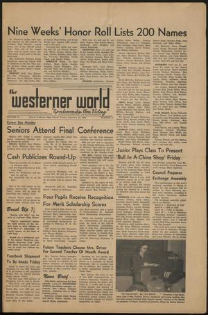 Primary view of object titled 'The Westerner World (Lubbock, Tex.), Vol. 25, No. 11, Ed. 1 Friday, February 13, 1959'.