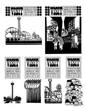 Primary view of object titled 'HemisFair '68 advertisements'.
