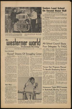 Primary view of object titled 'The Westerner World (Lubbock, Tex.), Vol. 32, No. 16, Ed. 1 Friday, January 28, 1966'.