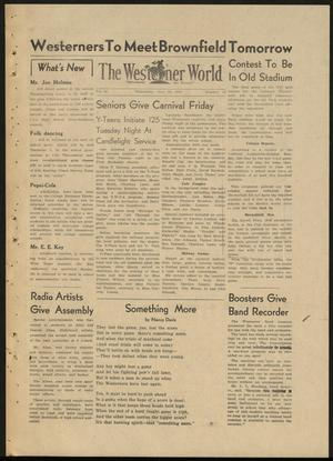 Primary view of object titled 'The Westerner World (Lubbock, Tex.), Vol. 14, No. 13, Ed. 1 Wednesday, November 26, 1947'.