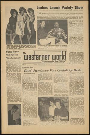 Primary view of object titled 'The Westerner World (Lubbock, Tex.), Vol. 30, No. 8, Ed. 1 Friday, October 25, 1963'.