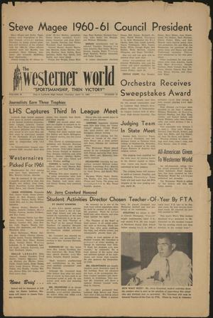 Primary view of object titled 'The Westerner World (Lubbock, Tex.), Vol. 26, No. 16, Ed. 1 Thursday, April 14, 1960'.