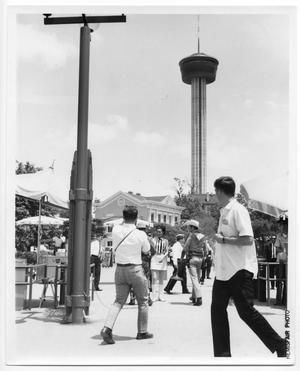Primary view of object titled 'Employees at HemisFair '68'.