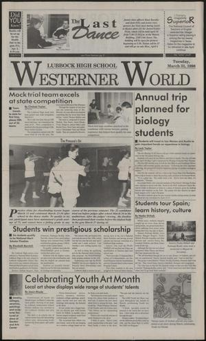 Primary view of object titled 'Westerner World (Lubbock, Tex.), Ed. 1 Saturday, March 21, 1998'.