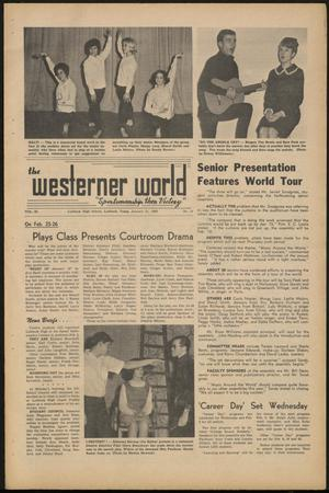 Primary view of object titled 'The Westerner World (Lubbock, Tex.), Vol. 32, No. 15, Ed. 1 Friday, January 21, 1966'.
