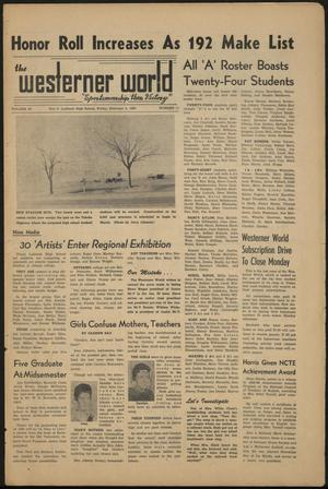 Primary view of object titled 'The Westerner World (Lubbock, Tex.), Vol. 26, No. 11, Ed. 1 Friday, February 5, 1960'.