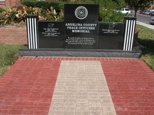Primary view of object titled 'Angelina County Peace Officers Memorial'.