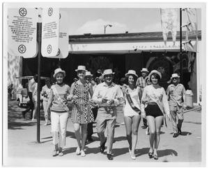 Primary view of object titled 'Corpus Christi enthusiasts at HemisFair '68'.
