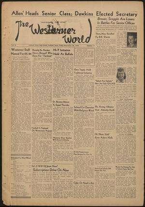 Primary view of object titled 'The Westerner World (Lubbock, Tex.), Vol. 12, No. 3, Ed. 1 Friday, September 28, 1945'.