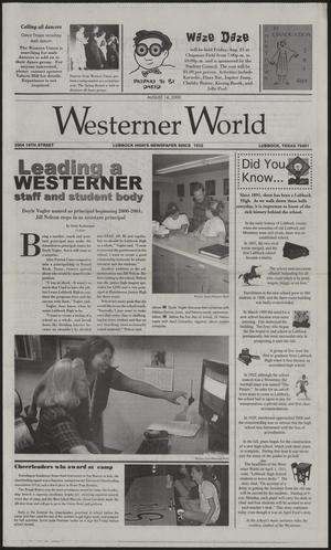 Primary view of object titled 'Westerner World (Lubbock, Tex.), Ed. 1 Monday, August 14, 2000'.