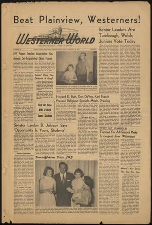 Primary view of object titled 'The Westerner World (Lubbock, Tex.), Vol. 20, No. 3, Ed. 1 Friday, September 18, 1953'.