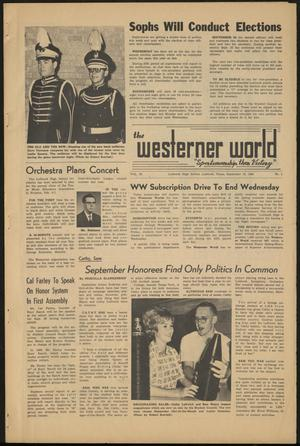 Primary view of object titled 'The Westerner World (Lubbock, Tex.), Vol. 30, No. 2, Ed. 1 Friday, September 13, 1963'.