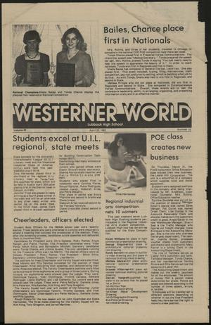 Primary view of object titled 'Westerner World (Lubbock, Tex.), Vol. 49, No. 15, Ed. 1 Friday, April 29, 1983'.