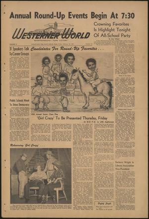 Primary view of object titled 'The Westerner World (Lubbock, Tex.), Vol. 21, No. 20, Ed. 1 Friday, February 25, 1955'.
