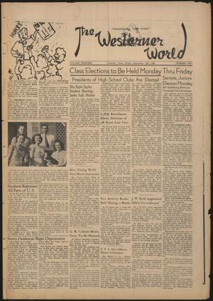 Primary view of object titled 'The Westerner World (Lubbock, Tex.), Vol. 13, No. 2, Ed. 1 Friday, September 13, 1946'.