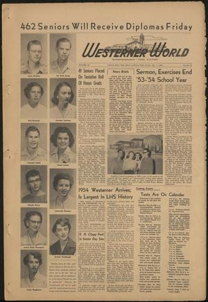 Primary view of object titled 'The Westerner World (Lubbock, Tex.), Vol. 20, No. 31, Ed. 1 Friday, May 21, 1954'.