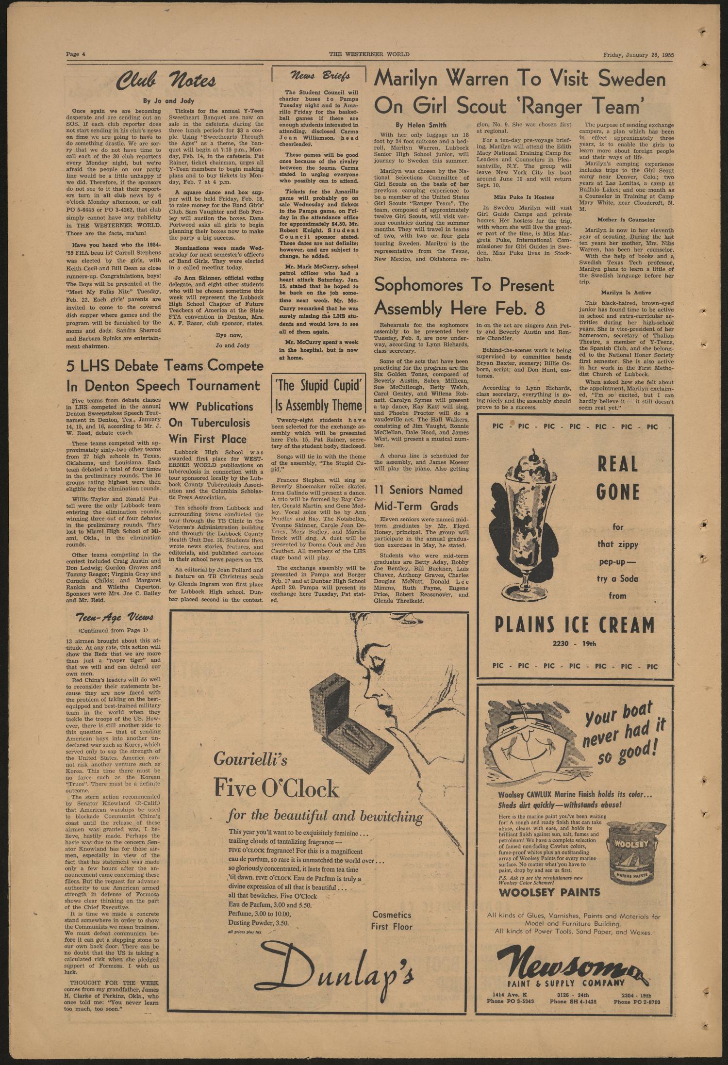 The Westerner World Lubbock Tex Vol 21 No 16 Ed 1 Friday